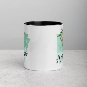 Arkansas AR Map Floral Mug - 11 oz