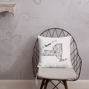 New York NY State Map Premium Pillow