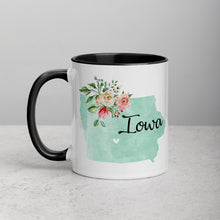Load image into Gallery viewer, Iowa IA Map Floral Mug - 11 oz