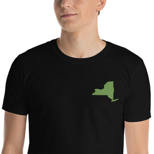 New York Short-Sleeve Unisex T-Shirt - Green Embroidery