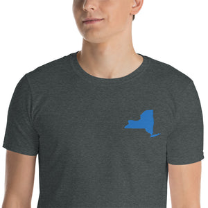 New York Unisex T-Shirt - Blue Embroidery