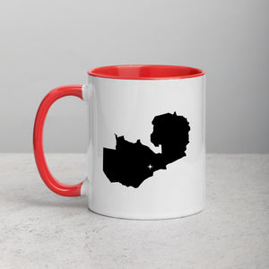 Zambia Map Coffee Mug with Color Inside - 11 oz