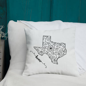 Texas TX State Map Premium Pillow