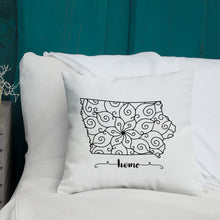 Load image into Gallery viewer, Iowa IA State Map Premium Pillow