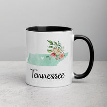 Load image into Gallery viewer, Tennessee TN Map Floral Mug - 11 oz