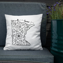 Load image into Gallery viewer, Minnesota MN State Map Premium Pillow