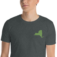 Load image into Gallery viewer, New York Short-Sleeve Unisex T-Shirt - Green Embroidery