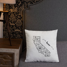 Load image into Gallery viewer, California CA State Map Premium Pillow