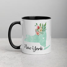 Load image into Gallery viewer, New York NY Map Floral Mug - 11 oz