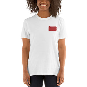 Pennsylvania Unisex T-Shirt - Red Embroidery