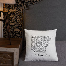 Load image into Gallery viewer, Arkansas AR State Map Premium Pillow