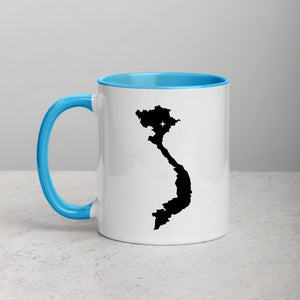 Vietnam Map Coffee Mug with Color Inside - 11 oz
