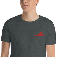 Load image into Gallery viewer, Virginia Unisex T-Shirt - Red Embroidery