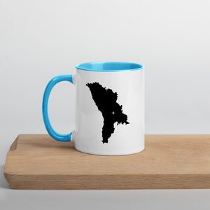 Moldova Map Coffee Mug with Color Inside - 11 oz