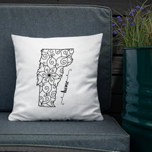 Load image into Gallery viewer, Vermont VT State Map Premium Pillow