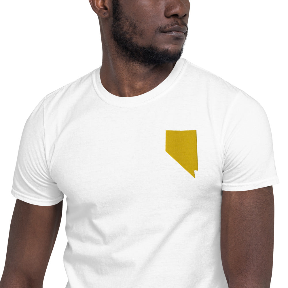 Nevada Unisex T-Shirt - Gold Embroidery