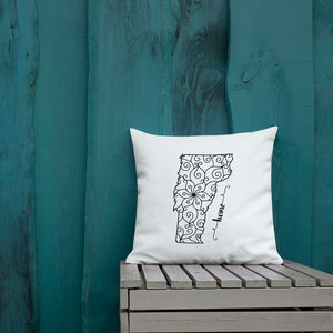 Vermont VT State Map Premium Pillow