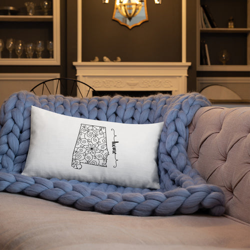 Alabama AL State Map Premium Pillow