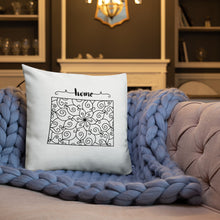 Load image into Gallery viewer, Wyoming WY State Map Premium Pillow