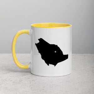 Saudi Arabia Map Mug with Color Inside - 11 oz