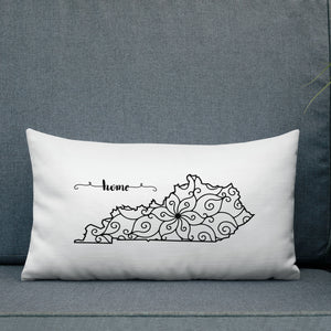 Kentucky KY State Map Premium Pillow