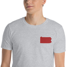 Load image into Gallery viewer, Pennsylvania Unisex T-Shirt - Red Embroidery