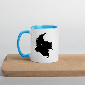 Colombia Map Coffee Mug with Color Inside - 11 oz