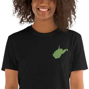 West Virginia Unisex T-Shirt - Green Embroidery