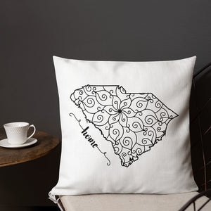 South Carolina SC State Map Premium Pillow