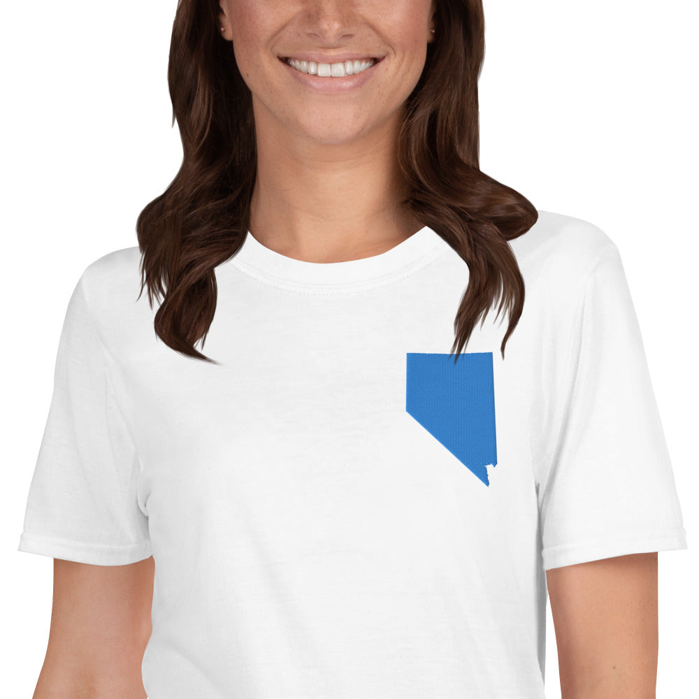 Nevada Unisex T-Shirt - Blue Embroidery