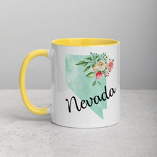 Load image into Gallery viewer, Nevada NV Map Floral Mug - 11 oz