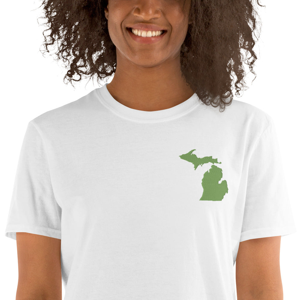 Michigan Unisex T-Shirt - Green Embroidery