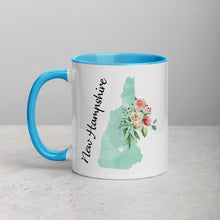 Load image into Gallery viewer, New Hampshire NH Map Floral Mug - 11 oz