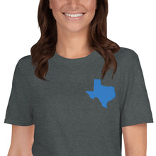 Load image into Gallery viewer, Texas Unisex T-Shirt - Blue Embroidery
