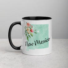 Load image into Gallery viewer, New Mexico NM Map Floral Mug - 11 oz