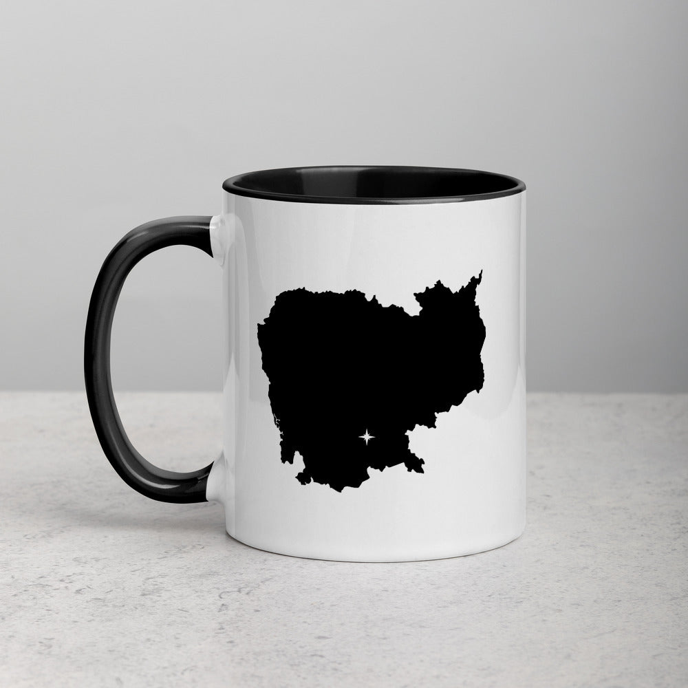 Cambodia Map Coffee Mug with Color Inside - 11 oz