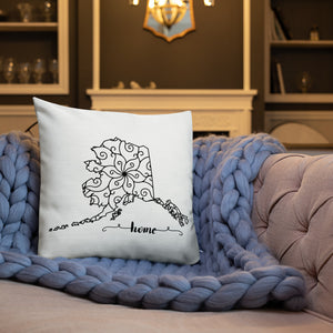 Alaska AK State Map Premium Pillow
