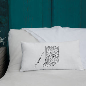 Indiana IN State Map Premium Pillow