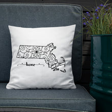 Load image into Gallery viewer, Massachusetts MA State Map Premium Pillow