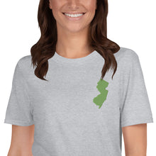 Load image into Gallery viewer, New Jersey Short-Sleeve Unisex T-Shirt - Green Embroidery