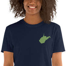 Load image into Gallery viewer, West Virginia Unisex T-Shirt - Green Embroidery