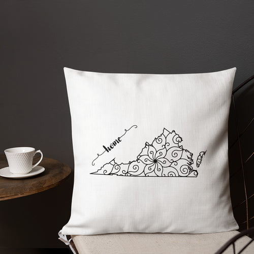Virginia State Map Premium Pillow - MissionMint