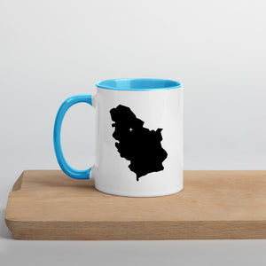 Serbia Map Coffee Mug with Color Inside - 11 oz