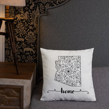 Load image into Gallery viewer, Arizona State Map Premium Pillow - MissionMint