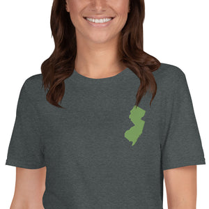 New Jersey Short-Sleeve Unisex T-Shirt - Green Embroidery