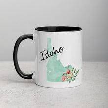 Load image into Gallery viewer, Idaho ID Map Floral Mug - 11 oz