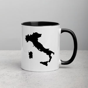 Italy Map Coffee Mug with Color Inside - 11 oz