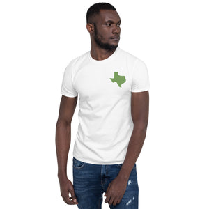Texas Unisex T-Shirt - Green Embroidery