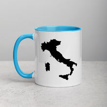 Load image into Gallery viewer, Italy Map Coffee Mug with Color Inside - 11 oz