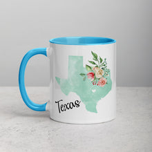 Load image into Gallery viewer, Texas TX Map Floral Mug - 11 oz